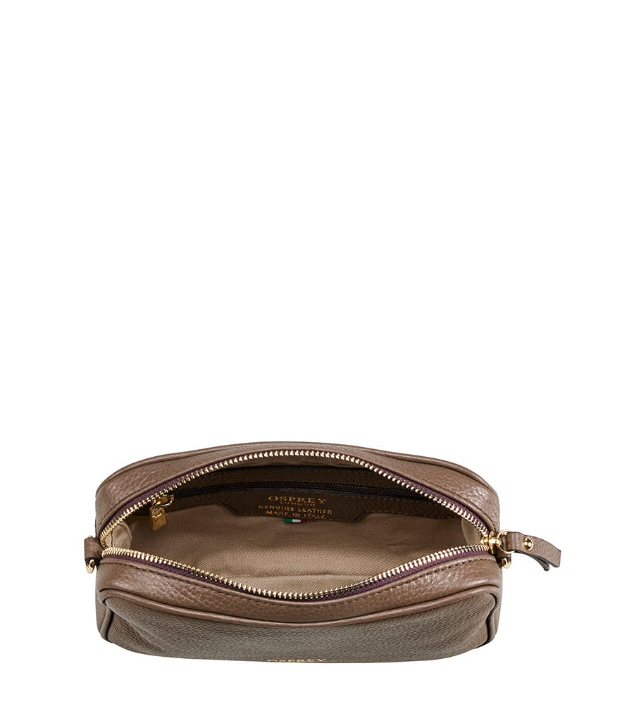 dfe6452b6090 The Andorra Taupe Leather Cross-Body