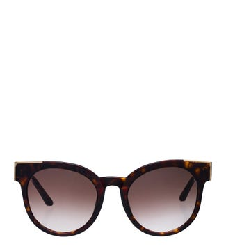 The Atoll Sunglasses in chocolate tortoiseshell | OSPREY LONDON