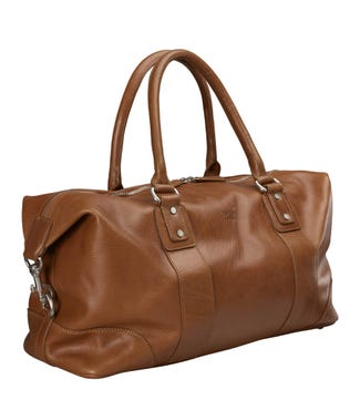 The Banbury Leather Holdall in cognac | OSPREY LONDON