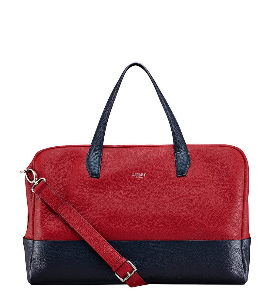 An image of The Biarritz Italian Leather Holdall