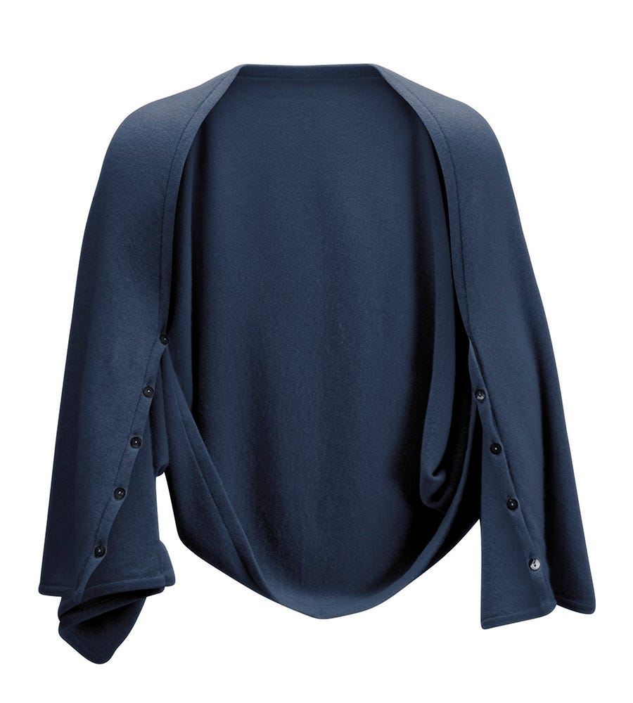 An image of The Cashmere 3-in-1 Button Wrap Poncho