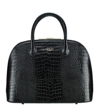 The Bug  Large Leather Grab in black | OSPREY LONDON