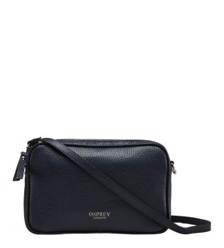 OSPREY LONDON | The Navy Andorra Italian Leather Cross-Body