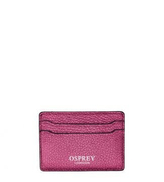 The Angelica Italian Leather Cardholder in sunset pink | OSPREY LONDON