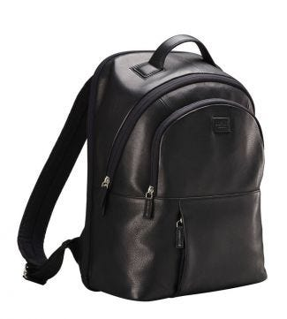 The Premium Baltimore Leather Backpack in black | OSPREY LONDON