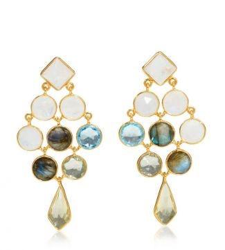 OSPREY LONDON | The Belvedette Gold Chandelier Earrings