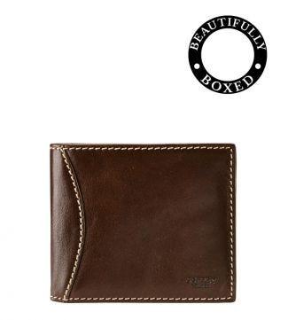 The E/W Brody Leather Billfold Wallet in tan | OSPREY LONDON