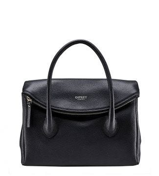 The Carina Italian Leather Organiser Grab in black | OSPREY LONDON