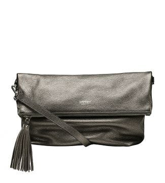 The Large Carina Italian Leather Cross-body in bronze | OSPREY LONDON