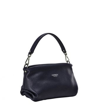 OSPREY LONDON | WOMEN | THE CARINA MIDNIGHT ITALIAN LEATHER GRAB