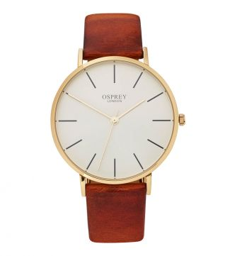 The Carlsten Gentleman's Watch in tan | OSPREY LONDON