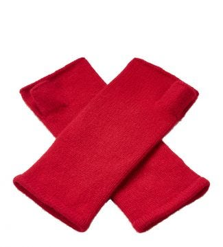 Cashmere Wristwarmers in red