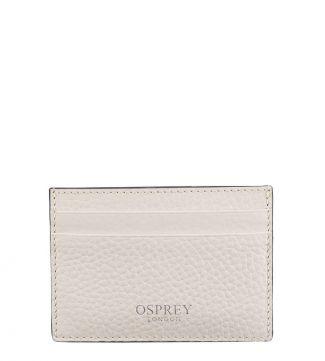 The Daria Leather Cardholder in coconut white   OSPREY LONDON