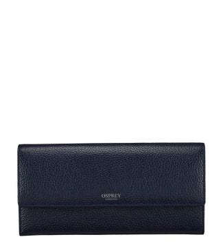 The Daria Leather Travel Organiser in midnight blue | OSPREY LONDON