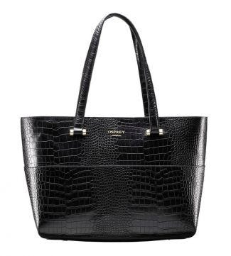 OSPREY LONDON | The Fitzrovia Leather Tote black