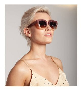Island Sunglasses in rose | OSPREY LONDON