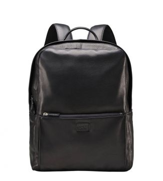 The Baltimore Leather Backpack in black | OSPREY LONDON