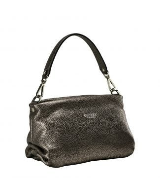 The Carina Shrug Italian Leather Handbag in bronze