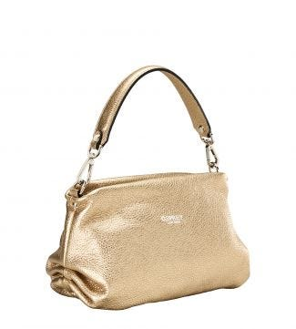 OSPREY LONDON | WOMEN | THE CARINA GOLD ITALIAN LEATHER GRAB