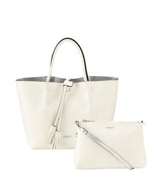 The Portofino 3 In 1 Italian Leather Grab in pearl white | OSPREY LONDON