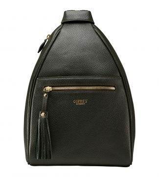 The Hampstead Leather Rucksack in fir green