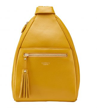 The Hampstead Leather Rucksack in mustard