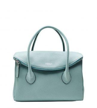 The Carina Italian Leather Organiser Grab in mint green | OSPREY LONDON