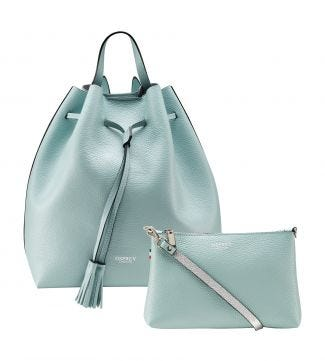 The Portofino 3-in-1 Italian Leather Rucksack in mint | OSPREY LONDON