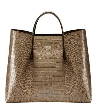 The Luna Italian Leather Workbag in taupe | OSPREY LONDON