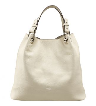 The Marla Italian Leather Hobo in cream