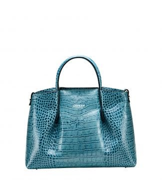 The Baby Luna Italian Leather Grab in lagoon blue | OSPREY LONDON
