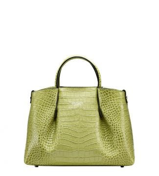 The Baby Luna Italian Leather Grab in lemongrass green | OSPREY LONDON
