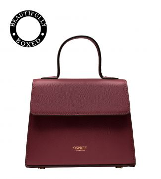 The Rainbow Leather Grab in wine | OSPREY LONDON