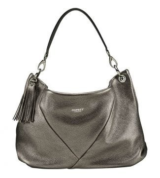 The Carina Italian Leather Hobo bag in bronze | OSPREY LONDON