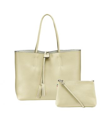 The Portofino Italian Leather Tote in butterscotch | OSPREY LONDON