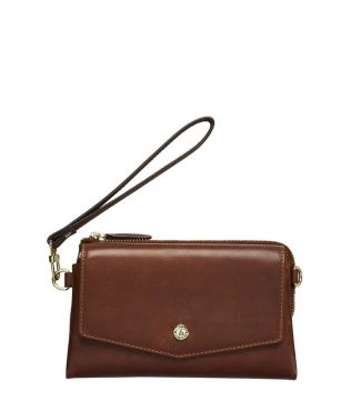 The Margot Leather Cross-Body in tan | OSPREY LONDON