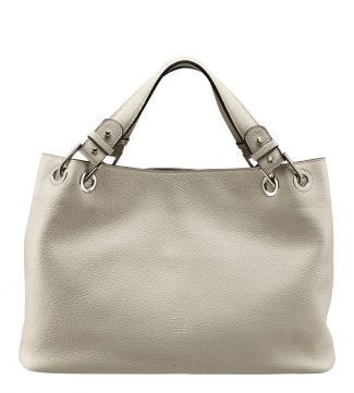 The Marla Italian Leather Grab in cream