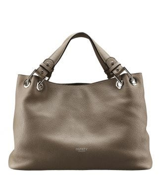 The Marla Italian Leather Grab in taupe