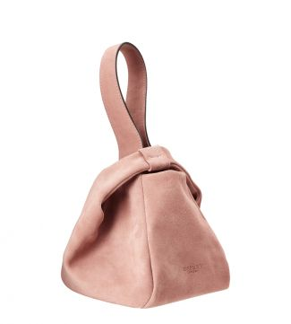 The Operetta Italian Leather Grab in blush pink