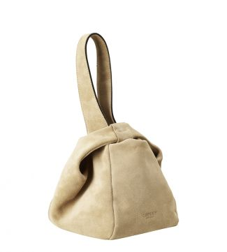 The Operetta Italian Leather Grab in stone