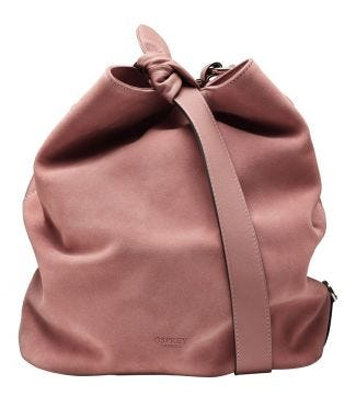 The Large Paloma Italian Leather Bucket Bag in blush pink