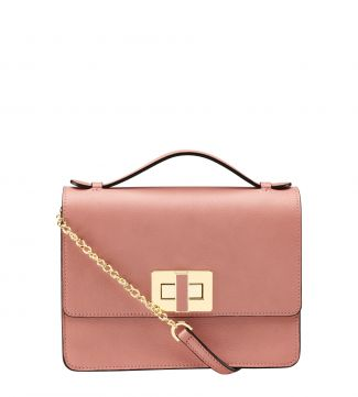 The Aria Italian Leather Cross-Body & Grab in Blush pink