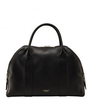 The Aria Italian Leather Workbag in black
