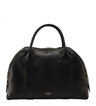 The Aria Italian Leather Workbag in black