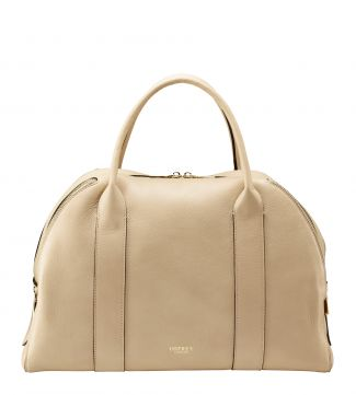The Aria Italian Leather Workbag in stone