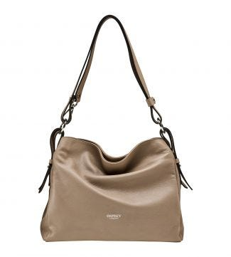 The Maria Italian Leather Cross-Body & Shoulder Bag in malt | OSPREY LONDON