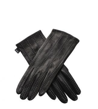 OSPREY LONDON The Antonia Black Leather Gloves.