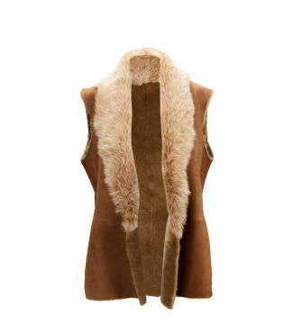 The Ana Sheepskin Gilet | OSPREY LONDON |Women's