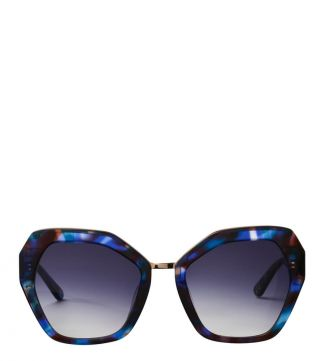 Rainforest Sunglasses in blue | OSPREY LONDON