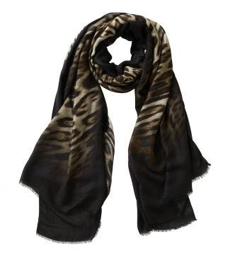 The Lynx Scarf beige & black | OSPREY LONDON
